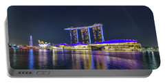 Marina Bay Sands And The Artscience Museum In Singapore Portable Battery Charger