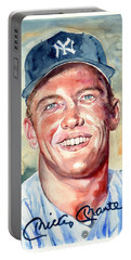 Mickey Mantle Portrait Portable Battery Charger