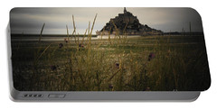 Mont St Michel Portable Battery Charger by Therese Alcorn