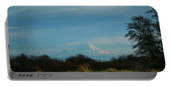 Mount Rainier In The Distance Portable Battery Charger