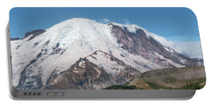 Mt Rainier From Sunrise Portable Battery Charger