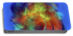 Multicolored Abstract Figures Portable Battery Charger