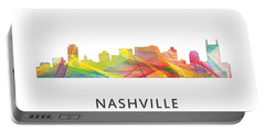 Nashville Tennessee Skyline Portable Battery Charger by Marlene Watson