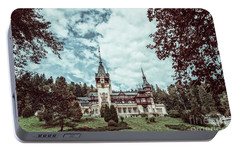 Neo-renaissance Peles Castle Built In 1873 In Carpathian Mountains Portable Battery Charger by Radu Bercan