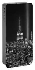 New York City Tribute In Lights Empire State Building Manhattan At Night Nyc Portable Battery Charger