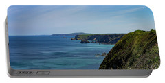 Portable Battery Charger featuring the photograph North Coast Cornwall by Brian Roscorla