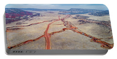 northern Colorado foothills aerial view Portable Battery Charger
