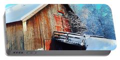 Norwegian Winter Landscape  Portable Battery Charger
