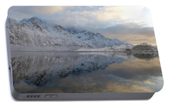 Portable Battery Charger featuring the photograph On My Way Through Lofoten 3 by Dubi Roman