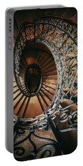 Portable Battery Charger featuring the photograph Ornamented Spiral Staircase by Jaroslaw Blaminsky