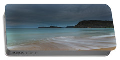 Overcast Cloudy Sunrise Seascape Portable Battery Charger