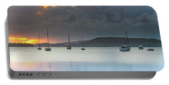 Overcast Sunrise Waterscape Portable Battery Charger