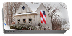 Patriotic Barn Portable Battery Charger by Tricia Marchlik