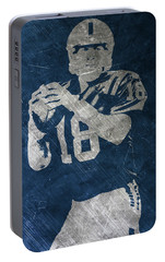 Peyton Manning Colts Portable Battery Charger by Joe Hamilton