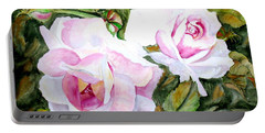 Pink Roses Portable Battery Charger