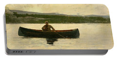 Playing A Fish Portable Battery Charger by Winslow Homer