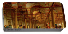 Portable Battery Charger featuring the painting Prayer In The Mosque by Jean-Leon Gerome