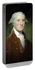 Portable Battery Charger featuring the mixed media President George Washington by War Is Hell Store
