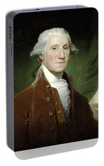 President George Washington Portable Battery Charger by War Is Hell Store