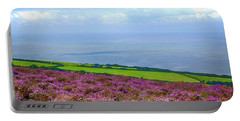 Purple Heather On Exmoor, Uk Portable Battery Charger