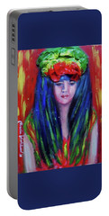 Rasta Girl Portable Battery Charger