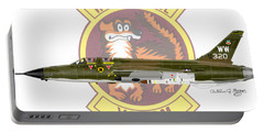 Portable Battery Charger featuring the digital art Republic F-105g Thunderchief 561tfs by Arthur Eggers