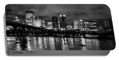 Richmond Skyline At Night Portable Battery Charger