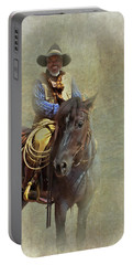 Portable Battery Charger featuring the photograph Ride Em Cowboy by David and Carol Kelly