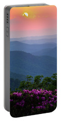Roan Mountain Sunset Portable Battery Charger by Serge Skiba