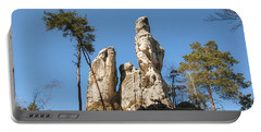 Portable Battery Charger featuring the photograph Rock Formations In The Bohemian Paradise Geopark by Michal Boubin