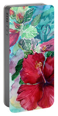 Rose Of Sharon Portable Battery Charger by Mindy Newman