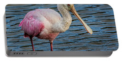 Roseate Spoonbill 1 Portable Battery Charger