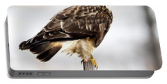 Rough-legged Hawk Portable Battery Charger by Ricky L Jones