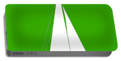 Sailboat In Green And White Portable Battery Charger