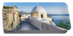 Santorini, Greece Portable Battery Charger