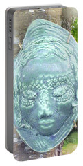 Portable Battery Charger featuring the ceramic art Sarah by Sandy McIntire