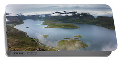 Selfjord And Torsfjord From Volandstinden Portable Battery Charger