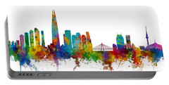 Portable Battery Charger featuring the photograph Seoul Skyline South Korea by Michael Tompsett
