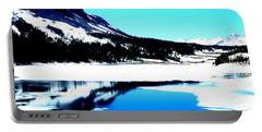 Shiny Snow Magic On Lake Portable Battery Charger