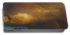 Portable Battery Charger featuring the photograph 2- Singer Island Stormbow by Rainbows