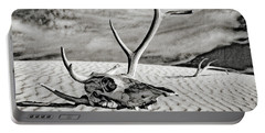 Skull And Antlers Portable Battery Charger