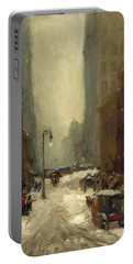 Snow In New York Portable Battery Charger