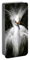 Snowy Egret Portable Battery Charger by Fran Gallogly