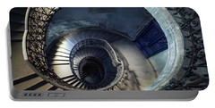 Portable Battery Charger featuring the photograph Spiral Staircase With Ornamented Handrail by Jaroslaw Blaminsky