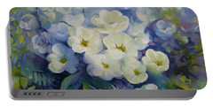 Portable Battery Charger featuring the painting Spring by Elena Oleniuc