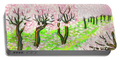 Spring Garden, Painting Portable Battery Charger by Irina Afonskaya