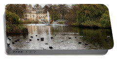 St James Park Portable Battery Charger by Shirley Mitchell