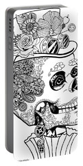 Steampunk Sugar Skull Portable Battery Charger