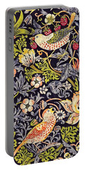 Portable Battery Charger featuring the painting Strawberry Thief by William Morris