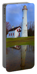 Sturgeon Point Lighthouse Portable Battery Charger by Michael Rucker